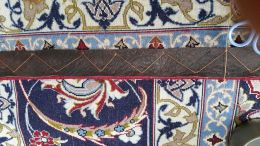 Leathering on edge of Persian Top quality rug