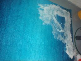 Blue Over Dye Carpet During the washing