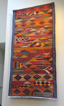 Hanged Rugs on the wall